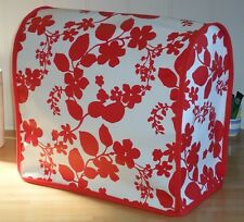Red Floral Pattern Vinyl Cover for KitchenAid and Kenwood kMix Food Mixers