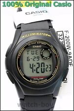 F-200W-9A Black Casio Watches Brand-New Resin Band
