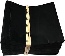 Black 65x60 Heat Shrink Neck Wrap Band Liquor, beverage bottle shrink [250 Pack]