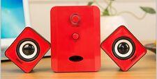 PC Speaker Sound System Portable Aux + USB SADA D201 Multicolor Sub + 2 Speakers