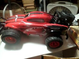 New Bright R/C 9.6V Pro Warrior Red W/black & White decor Quality Toys FOR PARTS