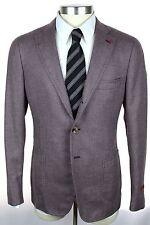 NWT ISAIA Cortina Mauve Purple Wool Cashmere Silk Coat Jacket 52 42 42R 40R $3K!