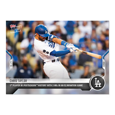 New listing 2021 TOPPS NOW #1001 CHRIS TAYLOR LOS ANGELES DODGERS 3 HOME RUNS IN GAME
