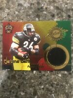 Jerome Bettis Authentic Game Worn Jersey Pittsburgh Steelers Football Card.