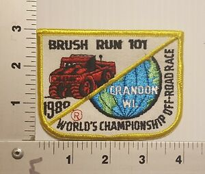 1980's BRUSH RUN 101 WORLD CHAMPIONSHIP OFF-ROAD RACE VINTAGE EMBROIDERED PATCH