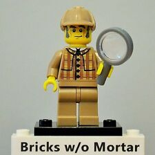 New Genuine LEGO Detective Minifig with Magnifying Glass Series 5 8805