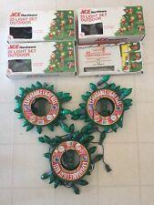 Assorted Lot Of 7 Multi Color Christmas Lights Vintage