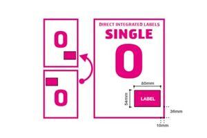 A4 Integrated Label Invoice Paper Sticky Address Sheets Single O  Ebay   Amazon