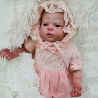 55cm Realistic Lifelike Silicone Vinyl Reborn Baby Dolls Toddler Accompany Kids