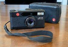 LEICA Minilux 35mm Film Camera Black w/ case & Data Back • TESTED • ULTRA RARE •
