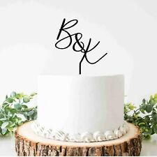 Acrylic initial letters Personalised cake toppers Wedding decoration