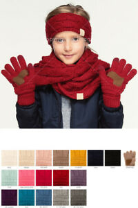 ScarvesMe C.C 3-9 years Children Girl Boy Kids Knit Solid Color Gloves