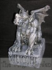 Gargoyle dragon welcome concrete cement garden ornament latex moulds molds