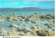 Israel Postcard Dead Sea Salt Formations Crystals