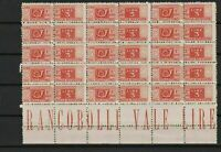 italy  1946 mint never hinged parcel post  stamps block ref r13033