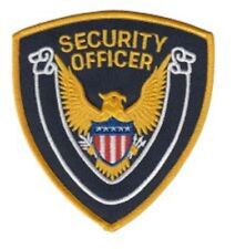 SECURITY OFFICER Arm patches, black with Gold trim