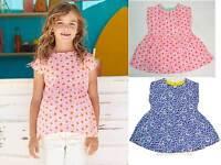 Mini Boden girls top blue pink daisy flower print top cotton jersey summer shirt