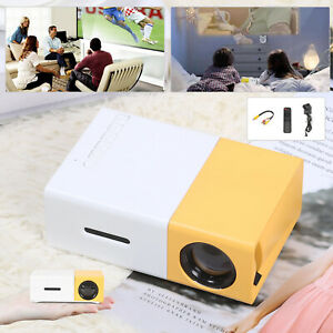 Mini HD 1080P Pocket LED Projector Home Theater Cinema Multimedia AV HDMI USB UK