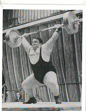 Weightlifting Photo Strongman Paul Anderson Bodybuilding Muscle B&W #8