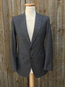 DOLCE GABBANA Fitted Suit Grey Wool Two Button Size 46 Italian