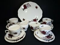 Vintage Colclough Ridgway Potteries Amoretta Pattern 7906 Tea Set