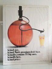 Matt'S Beer Advertising Poster Vintage 1984