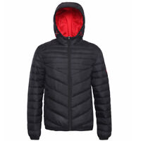Men's Lightweight Water-Resistant Hooded Quilted Puffer Jacket Coat Outwear