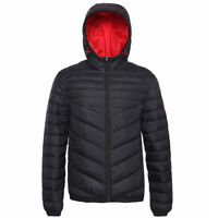 ifMen's Lightweight Water-Resistant Hooded Quilted Puffer Jacket Coat Outwear