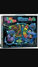 Lite Brite Glow Art Black Light Studio LED Projector Stickers Markers Stencil
