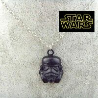 STAR WARS Stormtrooper Helmet Black Pendant or keychain  6K003D Force awakens