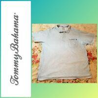 TOMMY BAHAMA Mens XL Light Blue Casual  Short Sleeve Button Polo Shirt