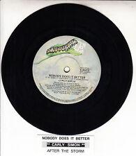 "CARLY SIMON  Nobody Does It Better 7"" 45 rpm vinyl record + juke box title strip"