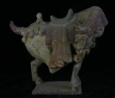 """15 """"Antique Chine Dynastie Tang Sancai Pottery War Cheval Chevaux Sculpture"""
