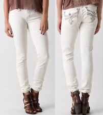 Rock Revival Lillian Skinny Stretch Pants Sz 25 White Jeans New