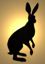 Shabby Chic Stencil Lepre Bunny Rabbit Design 1 VINTAGE A5 148x210mm in plastica