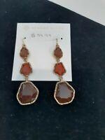 Chandelier Drop Stone Earrings