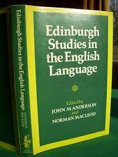 Edinburgh Studies in the English Language ed. J.M. Anderson & N. Macleod (1988)
