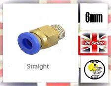 Tubo De Manguera De Accesorios Para Neumática Empuje Ajuste Conector 6mm recta 1/4 Reino Unido Vendedor