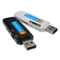 Mini Digital Audio Voice Recorders Pen Dictaphone USB Flash Drive TF Card Slot