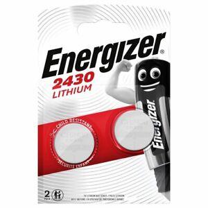 Pile CR2430 Energizer lot de 2 piles bouton lithium 3V DL2430 5011LC ECR2430