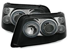 For VW Transporter T5 03-10 Black Angel Eye Projector Headlights Lamps LHD/Rhd
