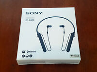 Sony WI-C400 Wireless Bluetooth Neckband Headphones Mic Black WIC400 #10 NEW
