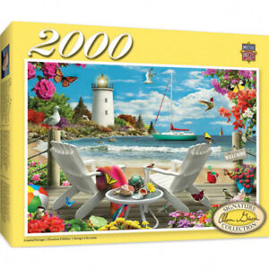 Masterpieces 2000 Piece Jigsaw Puzzle - Coastal Escape Damaged Box