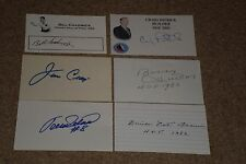 Lot Of (36) Hockey Signed Autographed Index Cards, Loaded With Hofers, Stars+