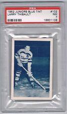 1952 Juniors Blue Tint  Hockey Card Barrie Flyers Larry Thibault Graded PSA 7