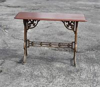 Antique, 19th Century Iron Legs, with Mahogany Top, Console Table, +