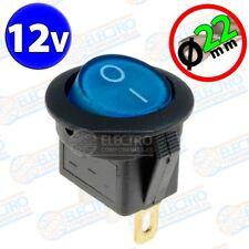 Interruptor ON OFF redondo 22mm 12v 16A con luz - AZUL - Arduino Electronica DIY