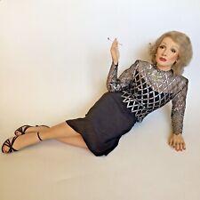 Clark Hanford 1970s Marlene Dietrich Half-Size Sculpture Doll Shrunken Woman