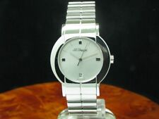 S.T.Dupont Geometry Stainless Steel Ladies Watch with Date / Ref 154 K2 AL46