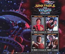 St Vincent & Grenadines 2010 MNH Star Trek Wrath Khan 4v M/S Spock Nimoy Stamps